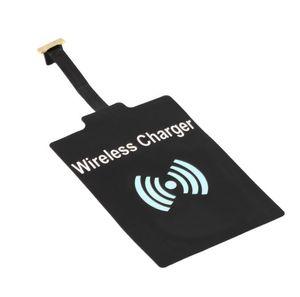 samsung Android Tipi Telefon siyah için şarj adaptörü Evrensel Qi kablosuz şarj alıcı modülü hızlı hızlı