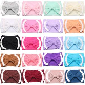 20 cores Baby Girl Lace Nylon Headband Moda Elasticidade suave infantil Doce Cor Bohemia Laço de Cabelo Acessórios Amazon Vendas Hot