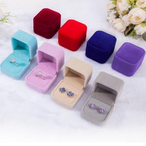 Forma cuadrada / Corazón sólido terciopelo color de la joyería del pendiente del anillo de exhibición del collar del organizador del almacenaje Caja de lujo caja de regalo de alta calidad