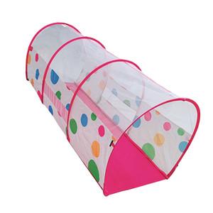 Jogo bonito Tent pontilhado polca Playhouse Crianças Com Túnel Cubby Casa do brinquedo Jogos para meninos e meninas