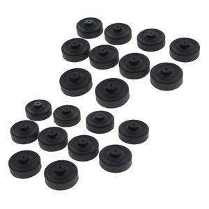 20 adet Akvaryum Oksijen Pompası Yedek Balık Tankı Pompa DIY Parçaları, Siyah, 3.5x3x1.5 cm