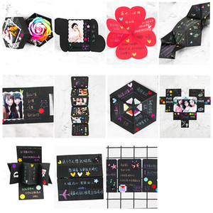 Surprise Party's Love Explosion Box Gift for Anniversary Scrapbook DIY Photo Album Birthday Valentine's Day Gift Explosion Box