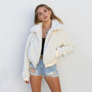 Womens Moda Plush Jacket Meninas Luxo Brasão Casual da Juventude sólidos Jackets designer de cores da Marca Roupas Femininas 2020 New Style Primavera