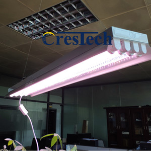 T8 LED Grow Lights (4ft 4lamps) T8 Tube fluorescent à pousser hydroponique Fixture Bloom Veg guirlande, T8 HO LED Fluorescent Grow Light Fixture