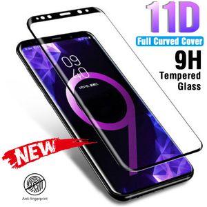 11D completa curvo temperado vidro por Samsung Galaxy S9 S8 Plus Nota 8 Protector 9 de tela para Samsung S7 S6 Borda Além disso Vidro Film