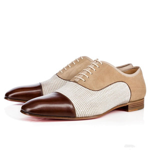 [Avec boîte] Luxe Red Bottom Mocassins Greggo Orlato Flat Oxford Chaussures WomenMen de soirée de mariage Chaussures de marche