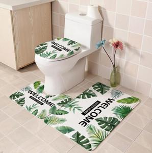 3 adet Banyo Seti tuvalet ins üç set kaktüs bitki mat Amazon sıcak satış tuvalet mat kapak İskandinav stilin ins tuvalet üç parça rüzgar