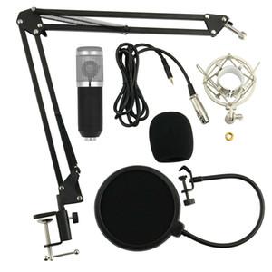 Профессиональный микрофон Запись Set конденсаторных 3.5mm Mic Audio Home Studio K Песня Подвеска Boom Scissor Arm Stand микрофонный держатель