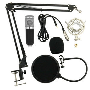 Mic Audio Home Professional Enregistrement Microphone Set condensateur Studio K chanson Suspension Boom Scissor bras support Holder Mic