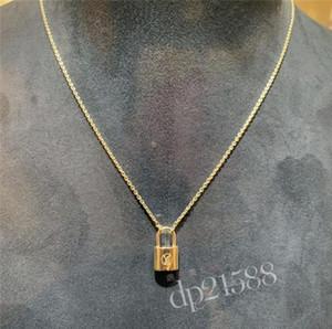 Van Lock colgante candado collar de las mujeres del diseñador de lujo de plata de acoplamiento del collar de la cadena del punk lockit moda de la joyería gótica v Arpels