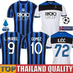 19 20 Atalanta Soccer Jerseys DE ROON 2019 2020 Atalanta BC 서포터 저지 DUVAN 축구 셔츠 ILICIC Jersey PASALIC GOMEZ 축구 셔츠