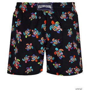 hombre verano nadan corta ropa de playa bermudas Vilebrequin tortugas más nuevo verano ocasional de los cortocircuitos de los hombres de moda del Mens del estilo Pantalones cortos