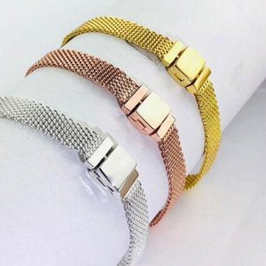 Wholesale- style 925 Sterling Silber stieg Reflexion Clip Charme Reflexion Krone ewigen Charme Armband Clip