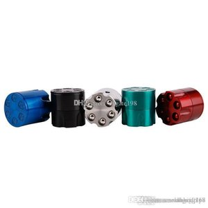 mini cheap metal Shooters Bullet Grinder Herb Tobacco Smoke Crusher Hand Muller Mini 3 Pieces Creative Zinc Alloy grinder