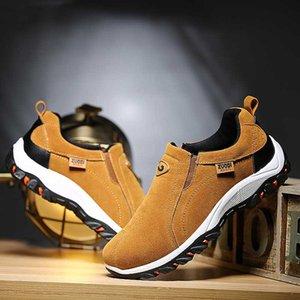 LEOSOXS deslizamento -on Shoes Men Loafers Suede Mocassins Primavera-Verão condução confortável Luz calçado macio Flats Hombres Tamanho