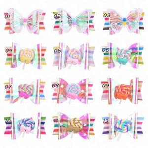 2020 Sommer-Regenbogen-Lutscher Nette Kinder Hairpin Hair Clips Zubehör für Mädchen Kinder-Haarschmuck Haarspangen Haarspange Kopfschmuck D62802