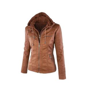 Jocoo Jolee Otoño Invierno Abrigo de piel sintética Chaqueta de cuero sintético Chaqueta básica femenina Tallas grandes Abrigos y chaquetas de gran tamaño 7XL