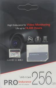 60pcs micro SD Black Card ad alta resistenza per la video sorveglianza classe 10 PRO scheda microSDHC Scheda di memoria flash 4k adattatore SD al dettaglio