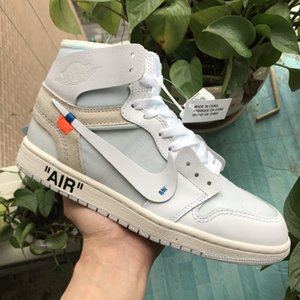 off Whìte x Air Jordán 1 Custom Basketball Shoes Fragment Designers Chicago White UNC Retro Sneakers Mens Trainers Sport Shoes