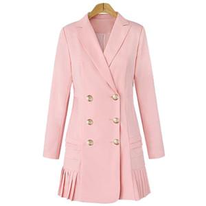 La MaxZa Colletto rovesciato a manica intera Donna Trench Cappotto doppio petto Cappotti e giacche Donna Elegante Top