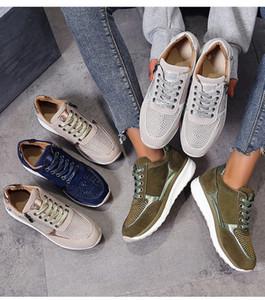 Luxus-Hot Verkauf Lace-up-Seiten-Reißverschluss Frauen Sneaker mit Crystal Wedge britischen Plattform Trainer Mode Frauen Läufer Schuhe Freizeitschuh