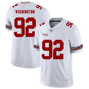 Adolphus Washington Stitched Mens Ohio State Buckeyes Andrew Norwell Blanco Negro Rojo Juego NCAA College Jersey