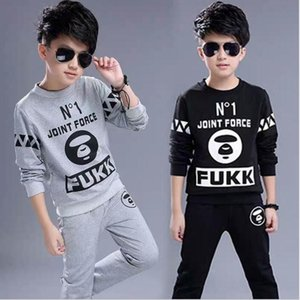 Best selling autumn 2020 new boys Plush sports suit Korean long sleeve sweater foreign style leisure two piece set