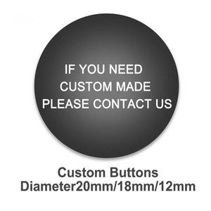 Nuovo fai da te personalizzati bottoni a pressione 12mm / 18 millimetri / 20mm foto rotondo in vetro bottoni a pressione all-ingrosso Foto Personalizzati