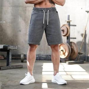 Curtas machos Correndo Academia Roupas Mens Solis Cor Esporte Shorts Verão Designer joelho cordão solto bolso