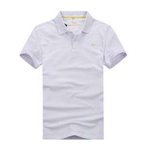 Klassische Harmontblaine Short-Polo-Männer Nizza Qualität Fashion Business Design Supper Stickerei 95% Baumwolle Männer Polo Größe M Freies Verschiffen bis 3XL