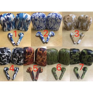 Hot Fashion i7S TWS Earphone Painted Pattern Design Wireless Bluetooth Headset with charge box for smartphone
