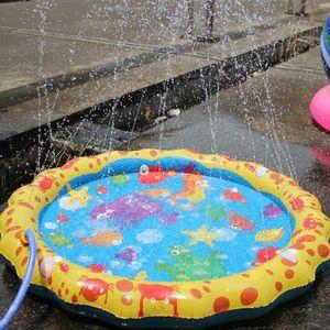 Swimming pool baby wading kiddie squirt fun pool outdoor squirt&splash water spray mat for Lawn Beach Play Game Sprinkler Mat