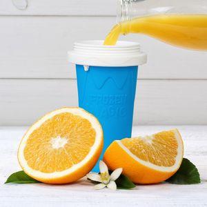모래 얼음 컵 여름 갈증 컵 음료 용기 T2I51005 반죽 실리콘 DIY 스무디 컵 아이스크림 얼음 만드는 컵