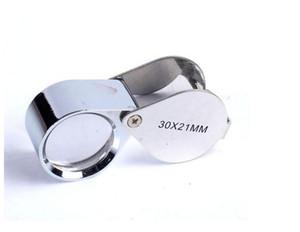 Mini 30x21mm Jewelers Eye Lupen Schmuck Diamant Lupen Lupe Genial tragbare Lupe Lupe Silberfarbe im Kleinkasten