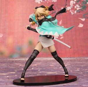 22 cm PVC Anime giapponese Figura Acquamarina Fate Sabre Okita Souji Ver action figure da collezione modello giocattoli per bambini brinquedos