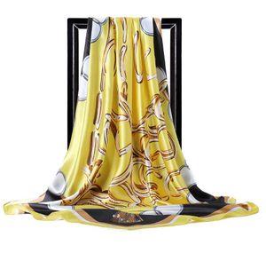 Nouveau dames femme mode Foulard en soie de haute qualité soie long foulard classique, floral, impression taille womans conception d'été de 180x90cm