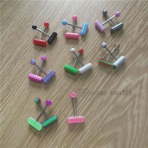 langue acrylique Fashion ongles vente chaude perforation anneau langue capsule sein ongles perforation du corps humain Ornements T9C0098