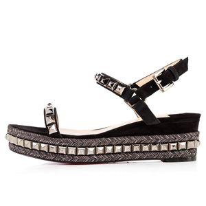 fondo rosso 6cm 12cm Designer sandali di lusso taglia 35-41 piattaforma piatta in pelle scarpe sandali di lusso con scatola taglia 35-41 scarpe moda donna