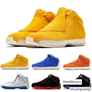2020 18 18s XVIII Mens Basketball Shoes Toro Yellow Suede Black White Bred Royal Blue Athletic Sports Sneakers trainers designer Chaussures