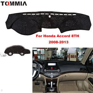 Car styling For Honda accord 8th 2008-2013 Interior Dashboard Pad Cover Dash Mat Sticker Anti-Sun Velvet Instrument