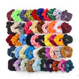 Frau Velvet Scrunchies Fest-Haar-Ring-Krawatten für Mädchen Pferdeschwanz-Halter-Gummiband-elastisches Hairband Haarschmuck Kopfbedeckung