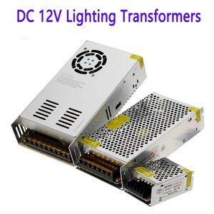 DC 12V Lighting Transformadores 1.25A 2A 3A 5A 6.5A 8.5a 10A Fonte de alimentação 110v 220v AC 12V 12.5A 15A 16.5A 20A LED Transformer