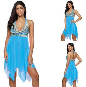 дешевые спортивные женщины тело тонкое и стройное, с раздельным типом юбки сетки и большой типом юбки yakuda купальник гибких стильных бикиней наборов