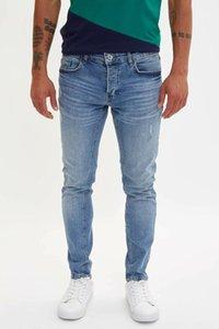 DeFacto Man Fashion Blue Wash Simple Pantalons Jeans Casual Classique Jeans Pantalons Elasticité Casual Male