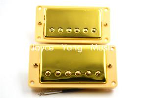 1 Set 2adet Altın Çift Bobin Humbucker Transfer NeckBridge For LP Elektro Gitar Pickups
