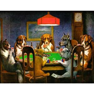 Pintados à mão Cassius Marcellus Coolidge lona Um Amigo em Necessidade pop art dog pintura para decoração de casa