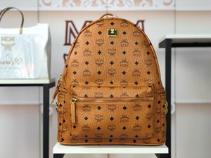 Stark Visetos Side Rebites de alta qualidade mochila famoso clássico para as mulheres e Wen sacos de escola de couro genuíno Weekend mala a tiracolo