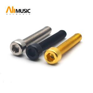 100PCS الكتريك جيتار Humbucker بيك أب Polepiece القطب مسدس مسامير الغيتار لاقط مغناطيس برغي قضبان 18mm وطول 3MM القطر