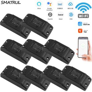 SMATRUL Tuya-Switch Smart-Leben APP WiFi Sprach Relay-Timer-Modul Google Startseite Amazon Alexa Rokid 110V 220V 10A LighT T200605