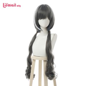 L-email wig Princess Connect Re:Dive Kiruya Cosplay Wig Long Grey Double Ponytail Cosplay Wigs Heat Resistant Synthetic Hair